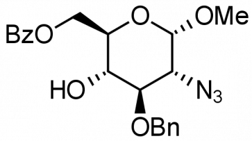 Methyl 2-azido-6-O-benzoyl-3-O-benzyl-2-deoxy-α-D-glucopyranoside